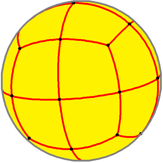 Overlay of a spherical cube and its polar, a spherical octahedron, from file Spherical-cube-oct-overlay.png on Wikimedia commons