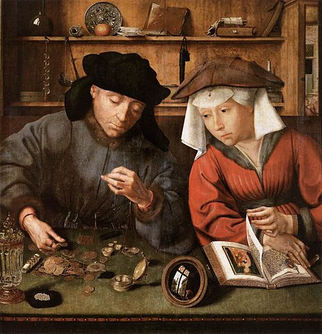 The Moneylender and his Wife, Quentin Matsys, 1514
