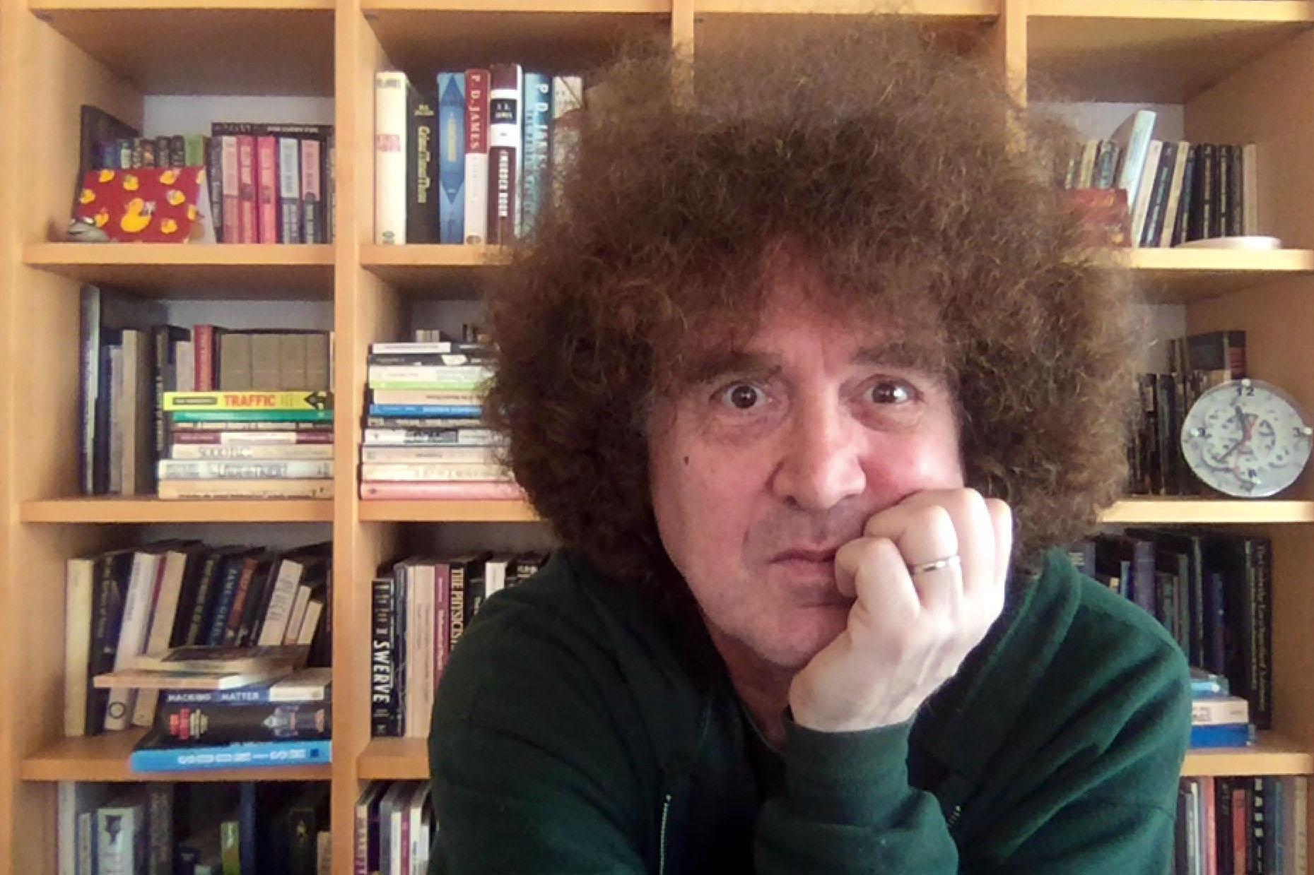 David Eppstein, self-portrait, Zoom screenshot